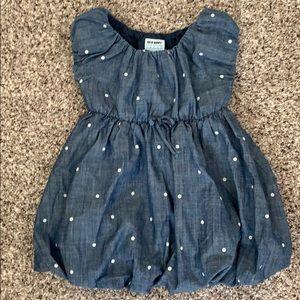 Chambray Polka Dot Bubble Dress